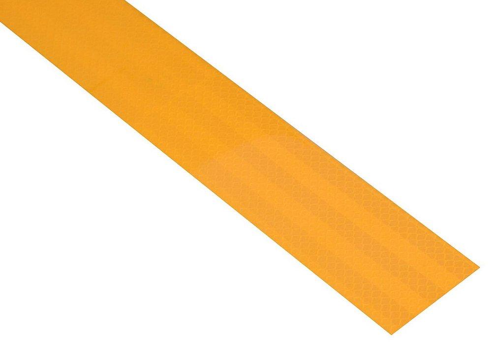 Samolepící páska reflexní 1m x 5cm žlutá, COMPASS