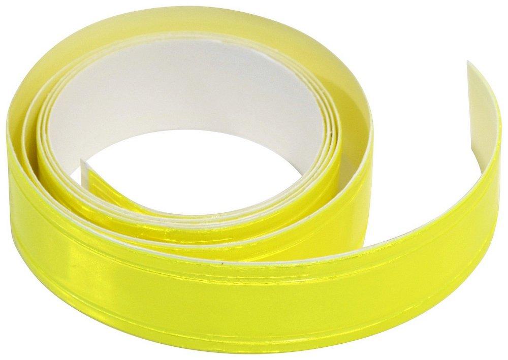 Samolepící páska reflexní 2cm x 90cm, žlutá, COMPASS