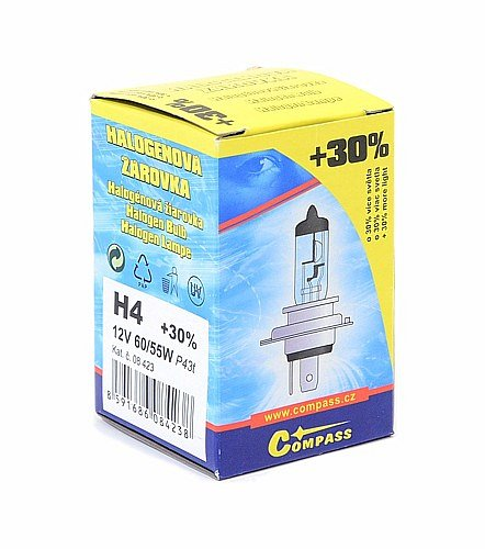 Žárovka 12V H4 60/55W P43t box FLASH +30%