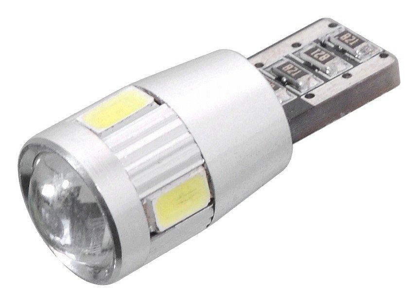 Žárovka 6 SMD LED 12V T10 s rezistorem CAN-BUS ready bílá, COMPASS