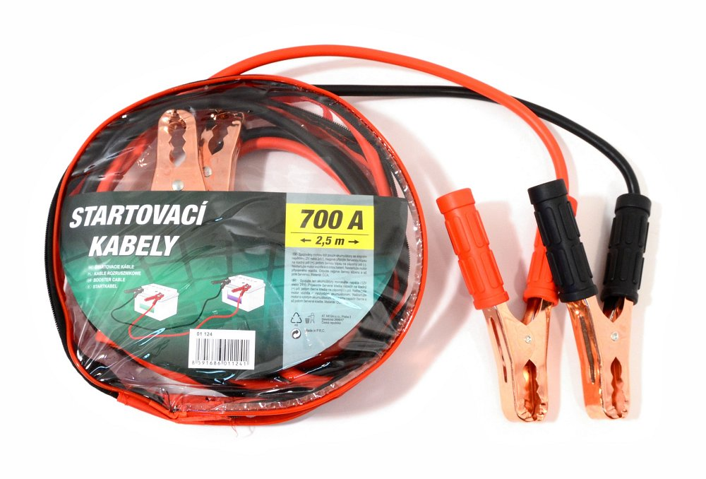 Startovací kabely 700A 2,5m zipper bag, COMPASS