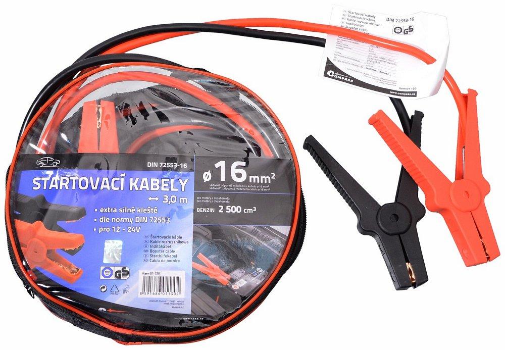 Startovací kabely 16 délka 3m TUV/GS DIN72553, COMPASS