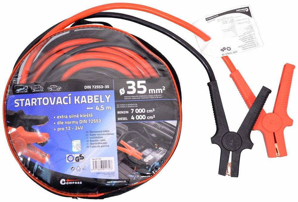 Startovací kabely 35 délka 4,5m TUV/GS DIN72553, COMPASS