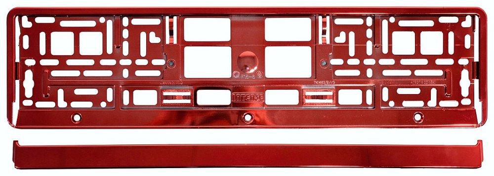 Podložka pod SPZ RED metallic, COMPASS