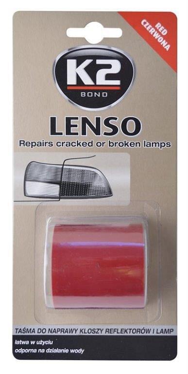 K2 LENSO 4,8 x 150 cm ČERVENÁ - opravná páska pro opravu světel