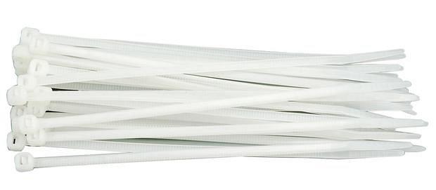 Páska stahovací 100 x 2,5 mm 100 ks bílá