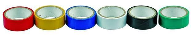 Páska PVC 19 x 0,13 mm x 3 m 6 ks barevné