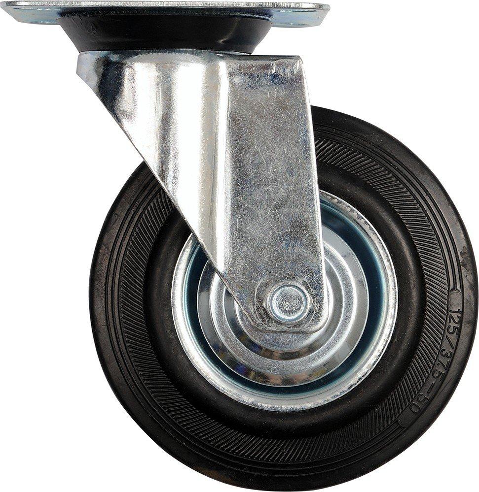 Kolečko otočné, gumové 100kg 125/34/155mm