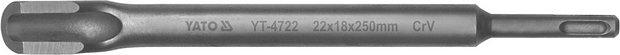 Sekáč SDS+ drážkovací 22 x 18 x 250 mm CrV