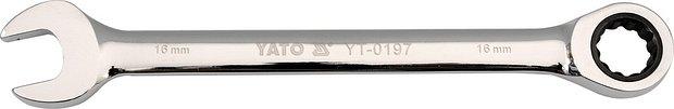 Klíč očkoplochý ráčnový 21 mm