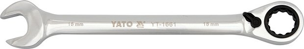 Klíč očkoplochý ráčnový 18 mm