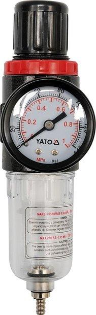 Regulátor tlaku vzduchu 1/4, max. 0,93MPa, s filtrem (15ccm)