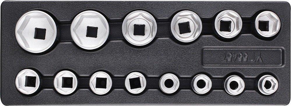 Vložka do zásuvky - sada nástrčných klíčů 3/4, 19-55mm, 14ks